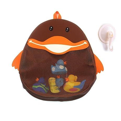 Amazon.com: ALPHELIGANCE Home Bath Tub Duck Toys Mesh Net Bag ...