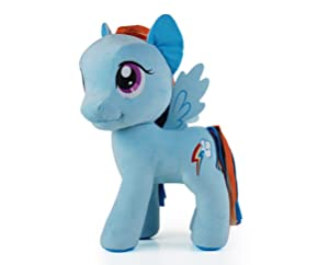 "My Little Pony 20"" Rainbow Dash Plush Toy, Blue/Multi"