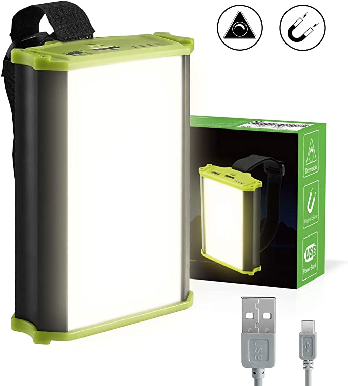 LE Luz de Camping LED USB, Función de Powerbank 4400mAh, 330 lúmenes Totalmente Regulable, con Imánes: Amazon.es: Iluminación