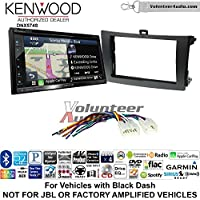 Volunteer Audio Kenwood DNX574S Double Din Radio Install Kit with GPS Navigation Apple CarPlay Android Auto Fits 2009-2013 Non Amplified Toyota Corolla