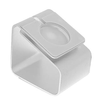 Gazechimp Sostenedor de Soporte de Carga Base Para Apple Watch SmartWatch de Aluminio - Plata