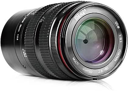 Meike Optics MK - Teleobjetivo para Canon EF (85 mm f2.8, Macro ...