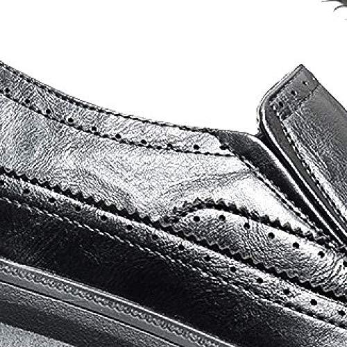 7 42 UK Pelle da Fu NBWE Scarpe EU 8 Brogue Lok Casual Rotonda da 41 493 Punta Black Uomo Scarpe Design in Intagliato Scarpe Lavoro xww74R1qB