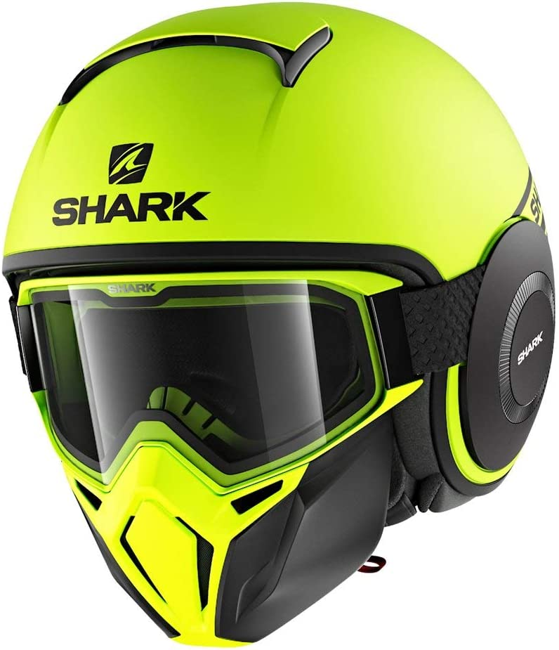 Shark Unisex-Adult Full Face Helmet (Matte Neon Yellow, M - 57-58 cm - 22.4-22.8'')
