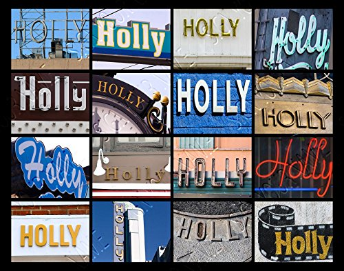 HOLLY Personalized Name Poster Using Sign Photos - (Sign Photos Name Shower)