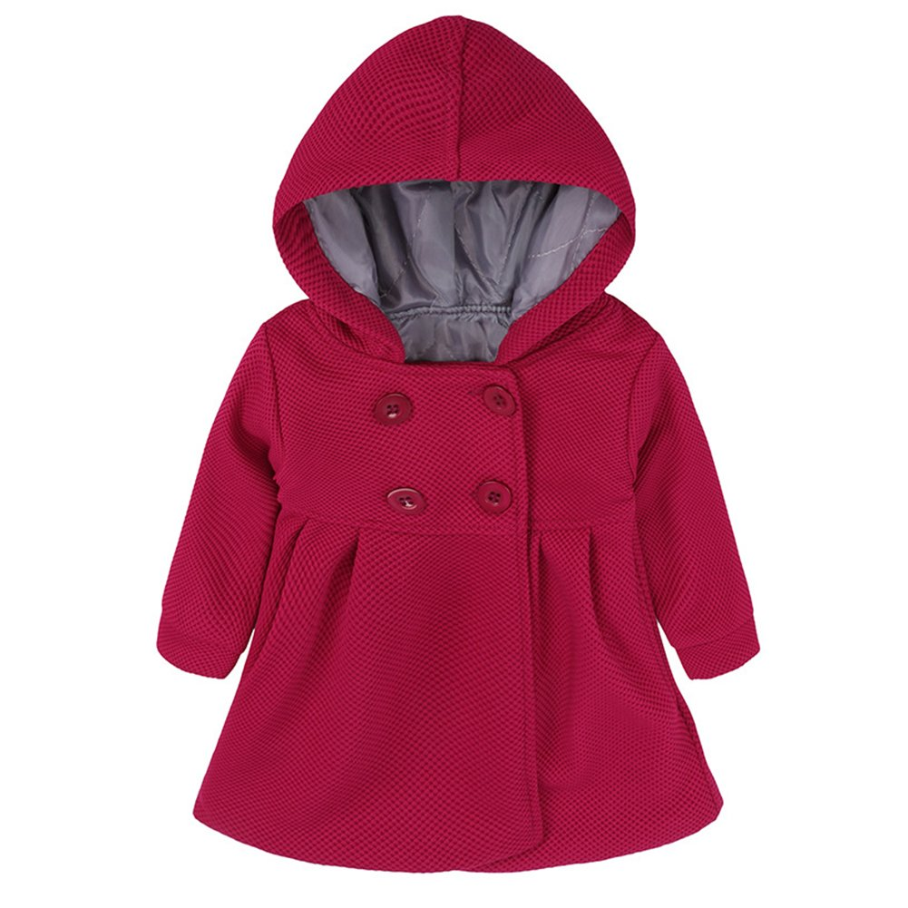 JINZFJG Baby Girls Coats Autumn Winter Cotton Lining Jacquard Folder Jacket, 9-24 Months JIN-F2045-UN