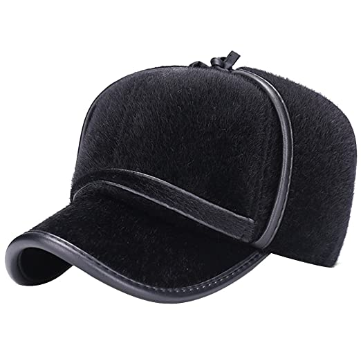 a107b9c1e5f Image Unavailable. Image not available for. Color  eYourlife2012 Mens Fake  Mink Fur Fleeced Winter Skiing Baseball Cap ...