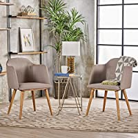 Christopher Knight Home 301317 Rhys Mid Dining Chair (Set of 2), Beige Natural Oak