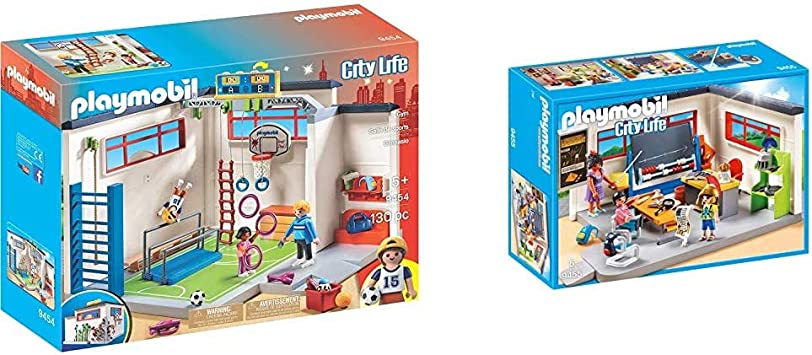PLAYMOBIL City Life Gimnasio, a Partir de 5 Años (9454) + City Life Clase de Historia, a Partir de 5 Años (9455)
