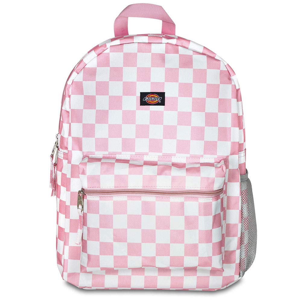 Dickies Student Backpack, Pink/White Checker, One Size by Dickies