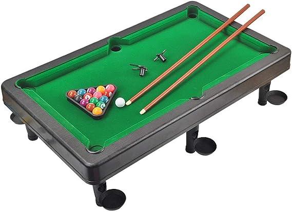 Wanlianer-Home Mesa de Billar Mini Mesa de Billar de Mesa de plástico en Miniatura Pool Juego Set con Mini Bolas de Piscina Cue Sticks Mesa de Billar Mesa de Juguete (Color, Size :