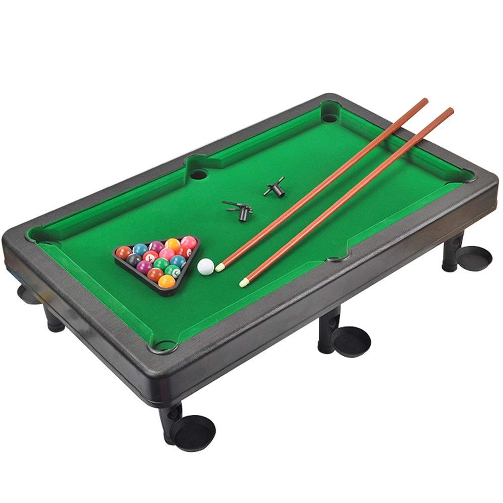 Ybriefbag-Sports Tabletop Billiards Mini Pool Table Plastic Table Top Miniature Pool Game Set with Mini Pool Balls Cue Sticks Tabletop Toy Pool Table (Color, Size : 32x55x15cm) by Ybriefbag-Sports