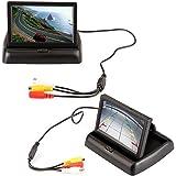 """ROGUCI pliable 4,3 """"couleur TFT LCD moniteur de caméra de recul de voiture écran 16:9 4.3inch pliable véhicule TFT couleur de caméra de recul avec écran LCD pour caméra de recul, VCR, DVD, VCD"""