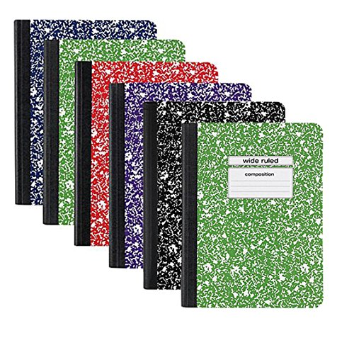 Staples Wide Rule Composition Book, Assorted Colors, 9-3/4'' x 7-1/2'', Each by Staples