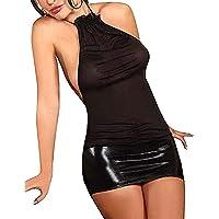 SxyBox Lencería Mujer Ropa Interior elástica Mini Vestido