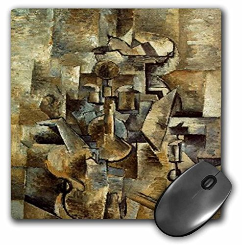Price comparison product image Picasso Painting Violin n Candlestick - Mouse Pad, 8 by 8 inches (mp_61847_1)