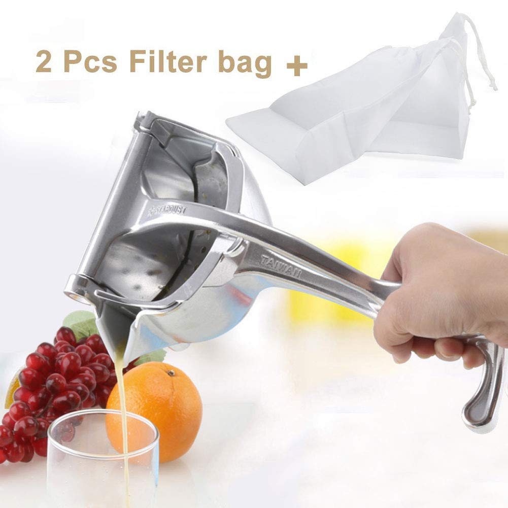 SHANGPEIXUAN Manual Fruit Juicer Alloy Lemon Squeezer Citrus Press Heavy Duty Hand Press Fruit Juicer Detachable Lime Squeezer