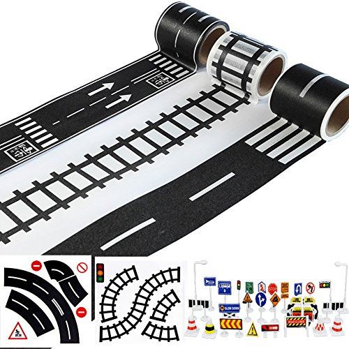 Play Road Tape for Toy Cars & Trains 3 Rolls 1.9