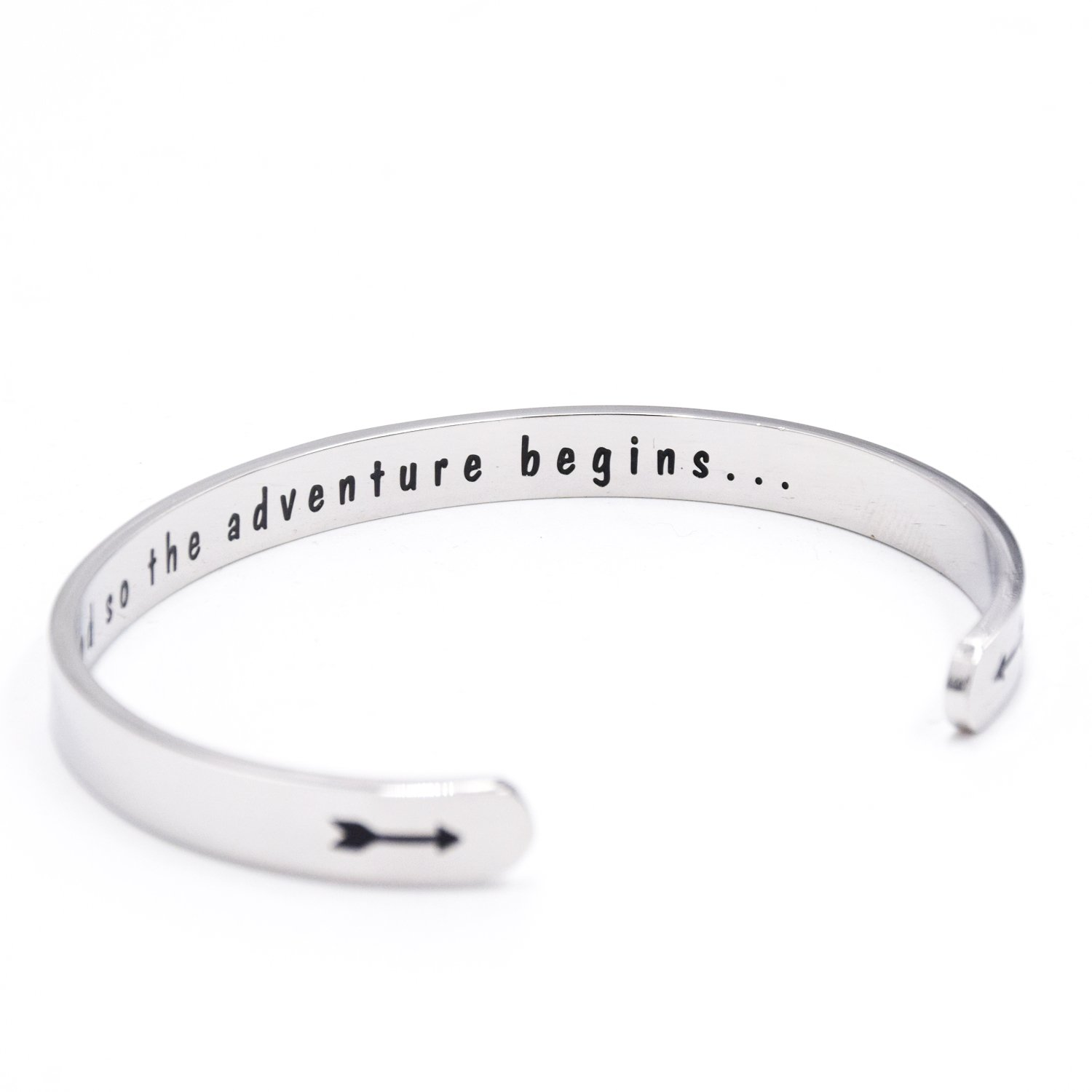 LParkin Class of 2018 2019 Gift And So the Adventure Begins Cuff Bracelet Graduation Gift (Cuff) by LParkin (Image #2)