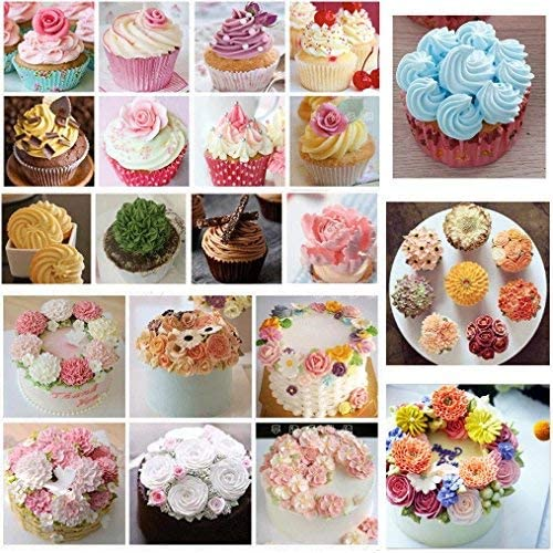 SelfTek 100 Pieces Disposable Pastry Bags Plastic Cream Piping Bag Cake Icing Cupcake Decorating Tool