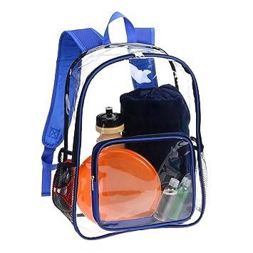 AimdonR Transparent Rucksack, Klar Durchsicht Student Schultasche, Trendige Mode.