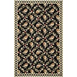 Safavieh Chelsea Collection HK164A Hand-Hooked Black and Ivory Premium Wool Area Rug (5'3″ x 8'3″) Review