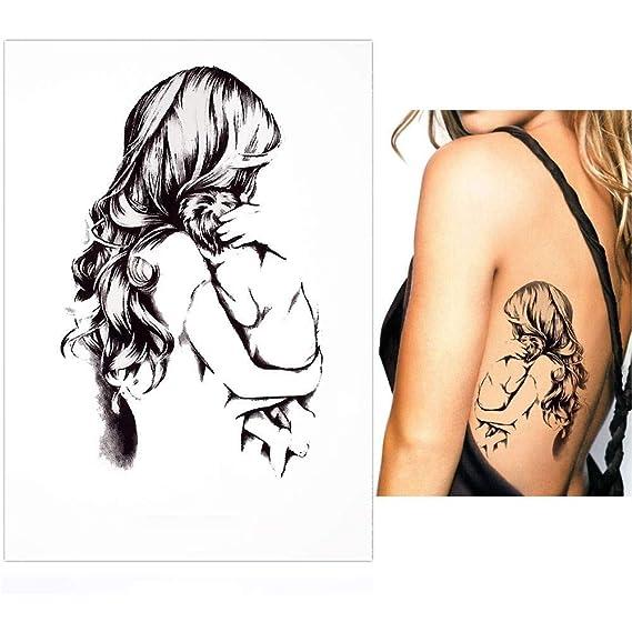 Just Fox – Tatuaje temporal, madre con hijo, diseño de amor ...