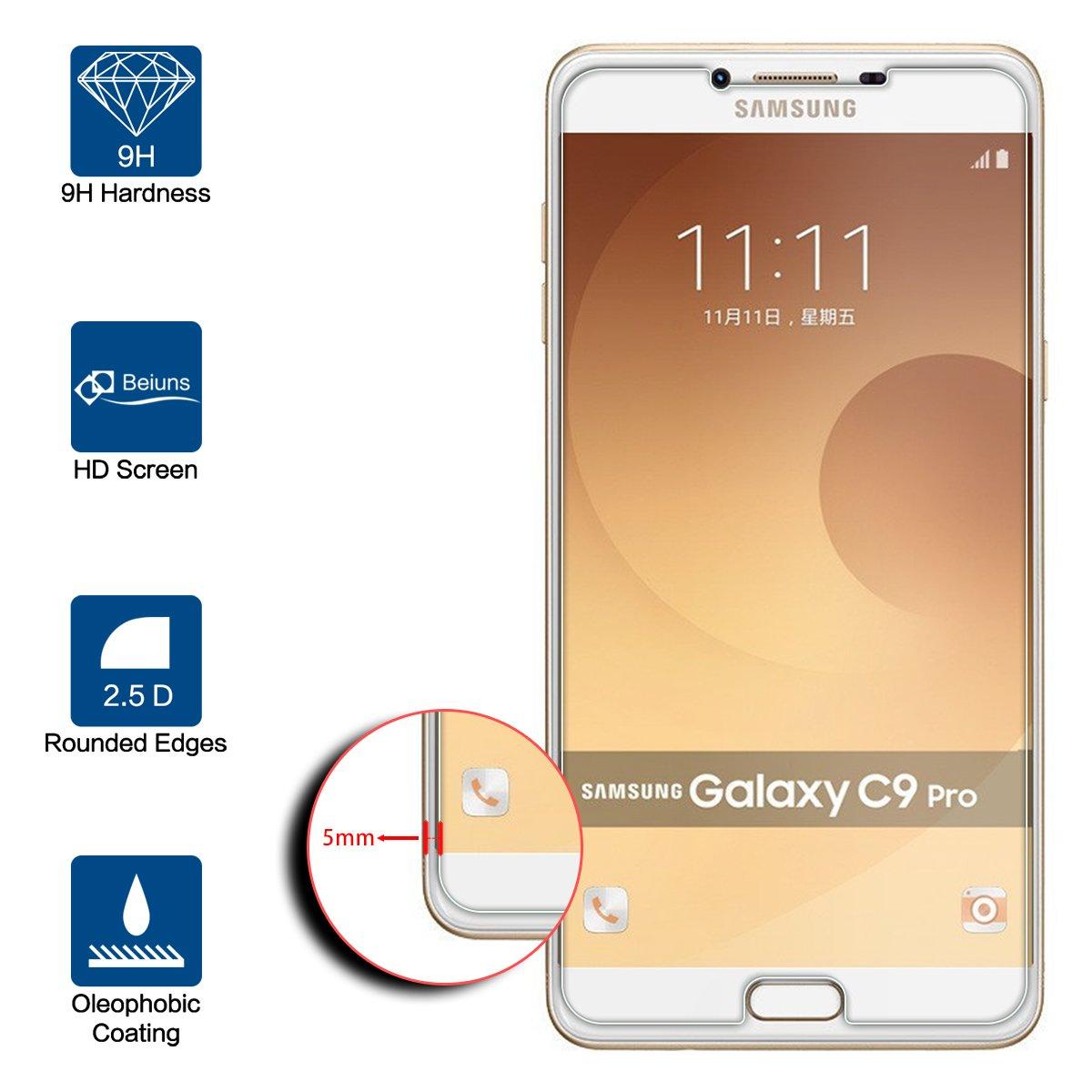Beiuns para Samsung Galaxy C9 Pro (C9000),(6 Pulgadas) Vidrio Templado Protector de Pantalla: Amazon.es: Electrónica