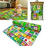 Viment Baby Kid Care Play Crawl Mat - Alphabet and farm