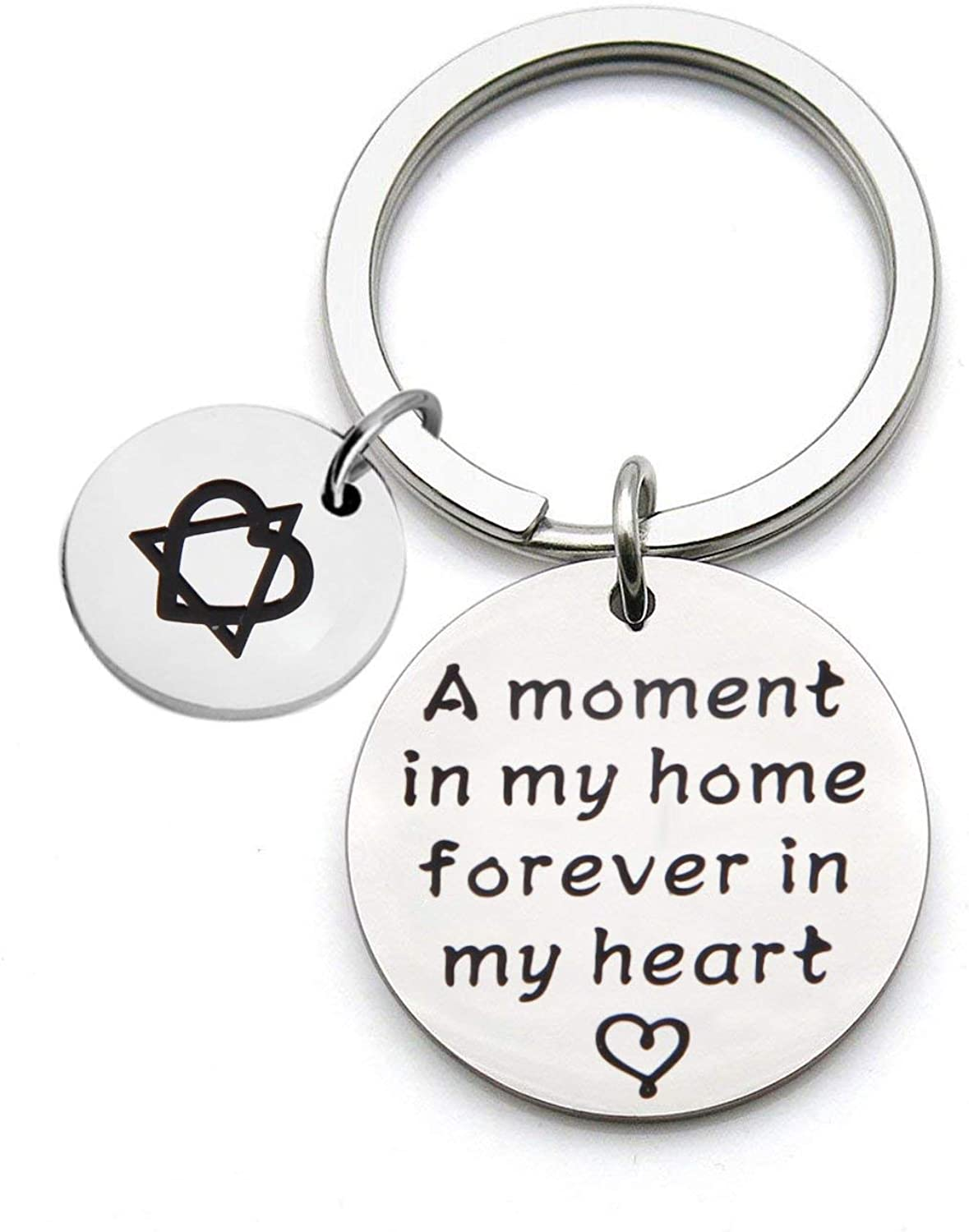 ENSIANTH Adoption Gift A Moment in My Home Forever in My Heart Keychain Foster Mom Gift