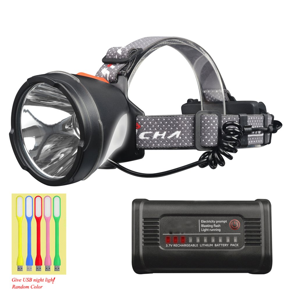 Lylgood USB Wiederaufladbar Stirnlampe LED Kopflampe Scheinwerfer 3 Lichtmodi USB Kabel wasserfest Ideal für Camping Joggen Campinglampe Aussenleuchte (Enthält keine Batterie)