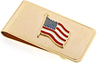 product image for JJ Weston American Flag Money Clip. Made in the USA.