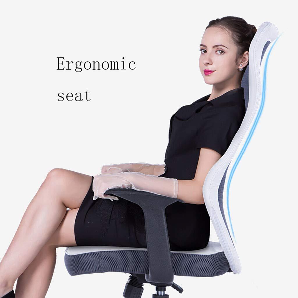 Kontorsstol dator kontorsstol hemstol ergonomisk stol personalstol barstol mottagningsstol röd, vit stol (färg: B) b