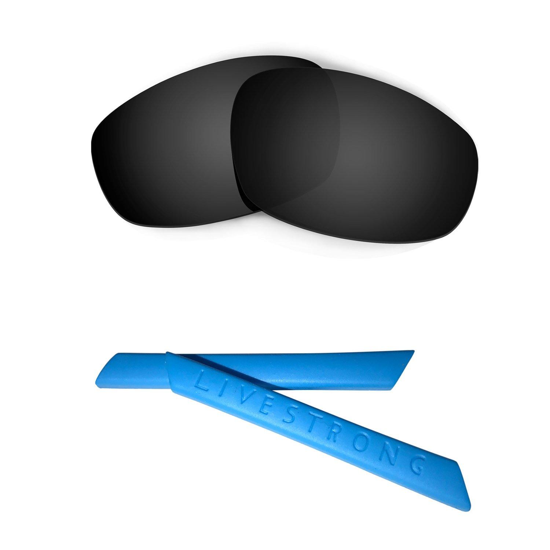 HKUCO Blue Polarized Replacement Lenses plus Blue Earsocks Rubber Kit For WojTLmfBUU Split Jacket UlMgJKvI