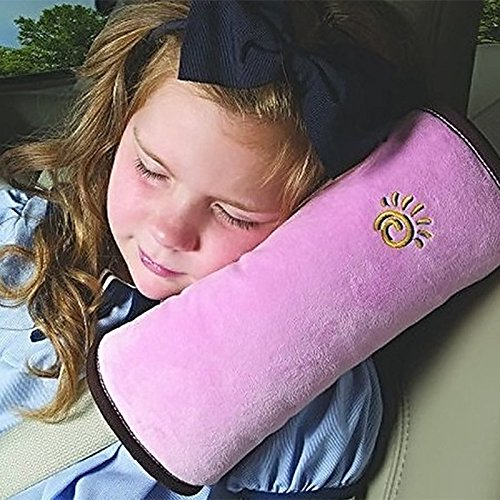 LKE Auto Pillow Car Safety Belt Protect Shoulder Pad Adjust Vehicle Seat Belt Cushion for Kids Children (pink) (Kids Car Seat Covers compare prices)