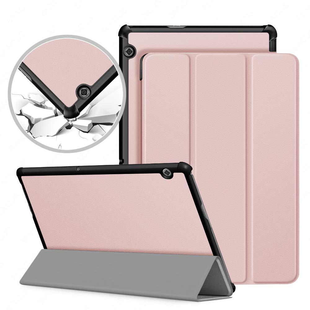 速くおよび自由な VAGHVEO Huawei MediaPad T5 T5 10ケース、Huawei Mediapad Mediapad T5 MediaPad 10 10.1インチ2018用プレミアムスリム軽量シェルPUレザー保護カバーケース、ローズゴールド B07L3KVMKF, サカエマチ:e29ea68c --- a0267596.xsph.ru
