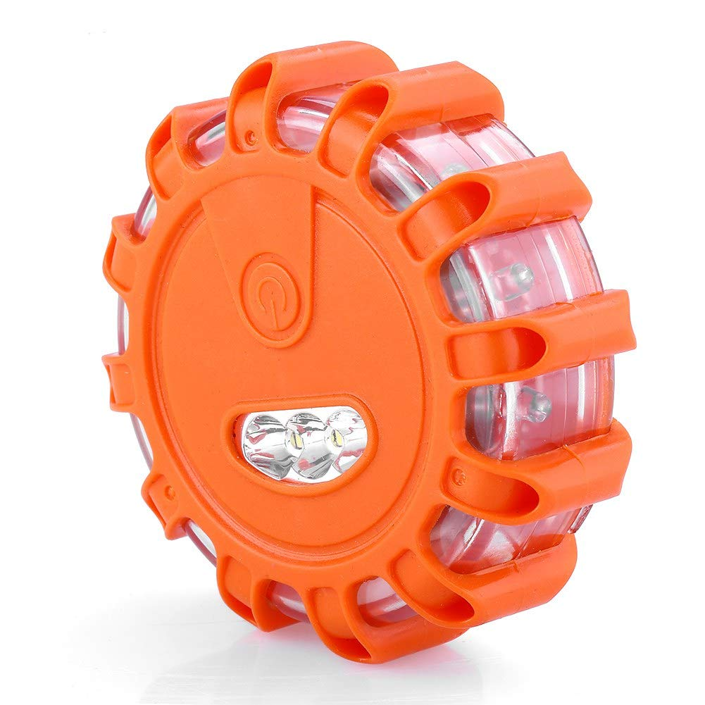 Emergency Warning Lights LED Road Flares Kit with Safety Vest Roadside Flashing Disc Beacon Signal Reflectors for Car Truck Boat Garosa