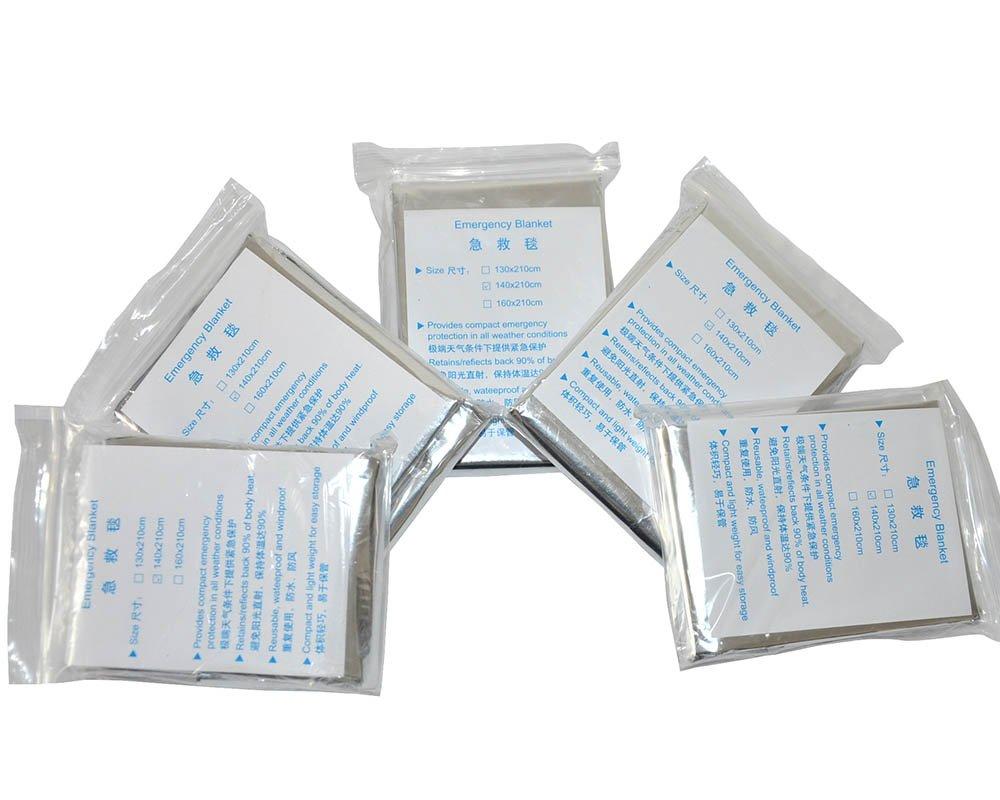 Huntingdoor Emergency Mylar Thermal Blankets (5, 10, 15, 20 Packs) (5Pack) by Huntingdoor
