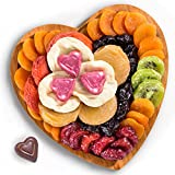 Golden State Fruit Dried Fruit and Chocolate in Keepsake Bamboo Heart Gift Tray