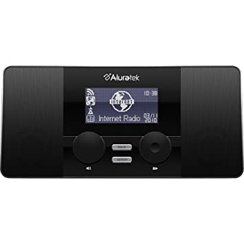 Aluratek AIRMM02F Reloj Digital Negro - Radio (Reloj, Digital, FM, 2 W