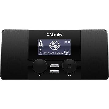 Aluratek AIRMM02F Reloj Digital Negro - Radio (Reloj, Digital, FM, 2 W, LCD, Azul): Amazon.es: Electrónica