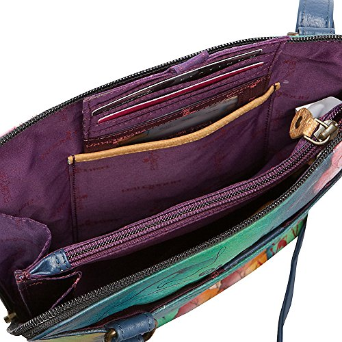 de 493 la bolso Anuschka viajes cuerpo Treasures Blissful cruzada de bolso Birds cuero de honda pintado Ocean lujo a señoras de mano organizador tqPPwdU