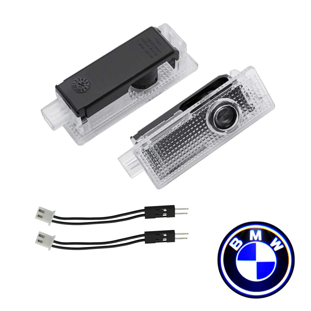 Kanuoc Compatible with BMW Car Door LED Laser Logo 2PCS Entry Ghost Shadow Laser Projector Welcome Lights Ground Lamp Courtesy Step Lamp Replacement for BMW 3/5/6/7/Z/GT/X/Mini Series