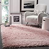 Safavieh Polar Shag Collection PSG800P Light Pink Area Rug, 6'7' x 9'2'
