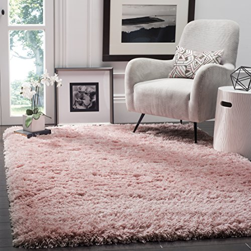 Safavieh Polar Shag Collection PSG800P Light Pink Area Rug, 4' x 6'
