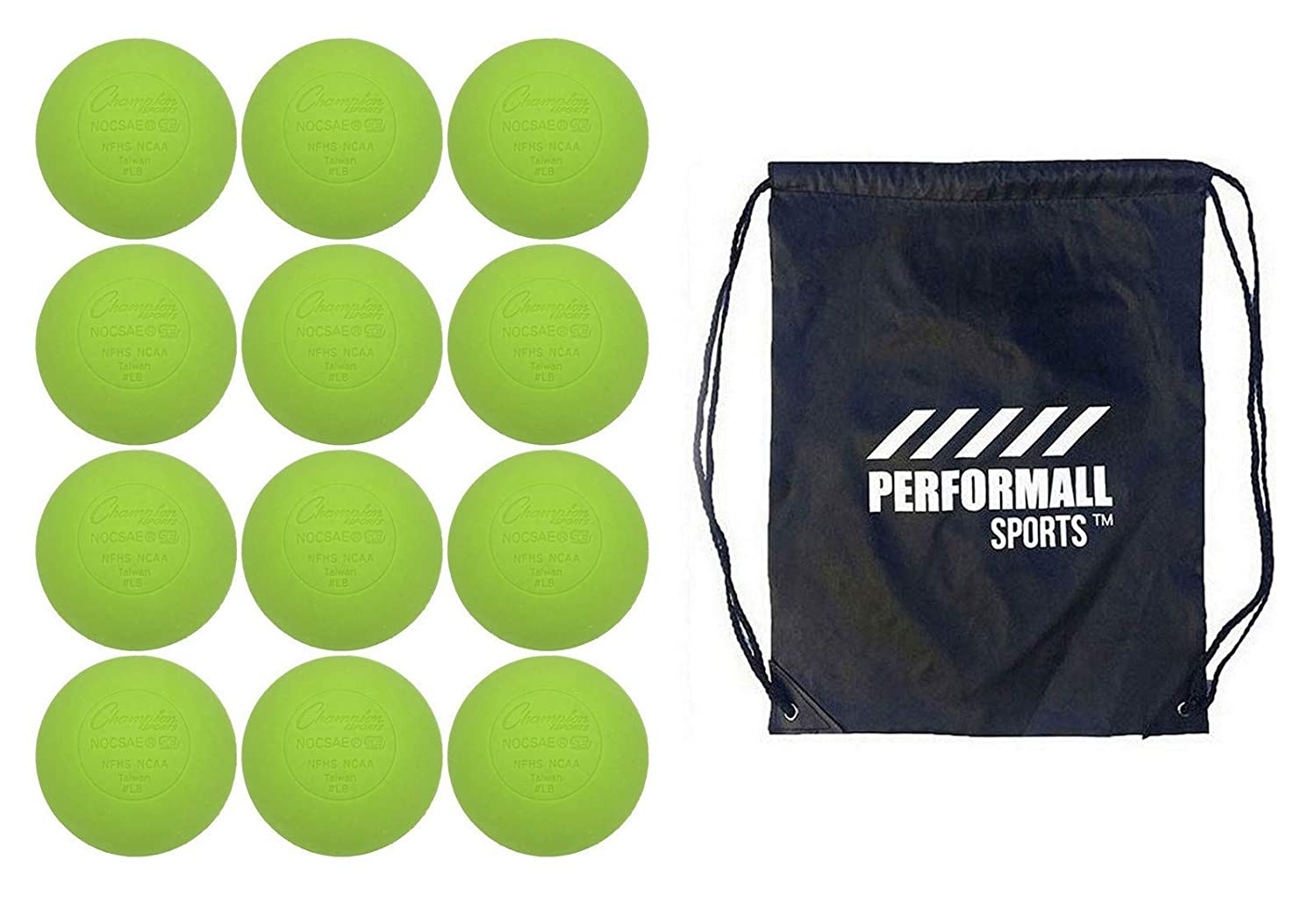 Champion Sports Lacrosse Balls 12-Balls Bundle