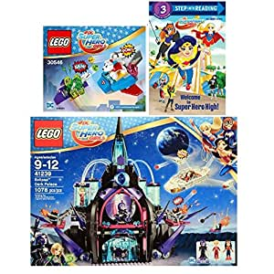 LEGO DC SUPER HERO GIRLS Eclipso Dark Palace 41239 (1078 Piece) & Welcome to Super Hero High! (DC Super Hero Girls) (Step into Reading) with LEGO DC Super Hero Girls Krypto Saves the Day 30546