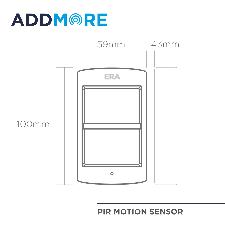 Motion Detector PIR ERA Pet Friendly Motion Sensor for Wireless Alarm Systems Energy Saving with Easy Installation