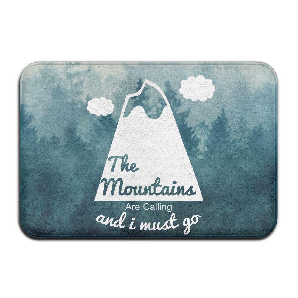 Custom The Mountains Are Calling Doormat - Floor Mat Indoor Entrance Rug Decor Mat, BaLin 23.6''x15.7''