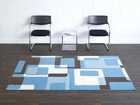 Tappeto retro blu beige marrone tappeto moderno soggiorno tappeto